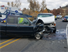 One Injured in N. Foothill Rd. Crash (Photo)