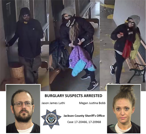 Burglary Suspects Identified, Lodged in Jail (Photo)