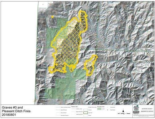Pleasant Creek Evacuation Zones Reduced