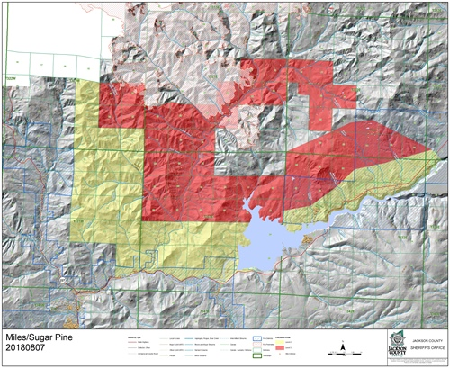 Sugar Pine/Miles Fire Evacuations Expanded