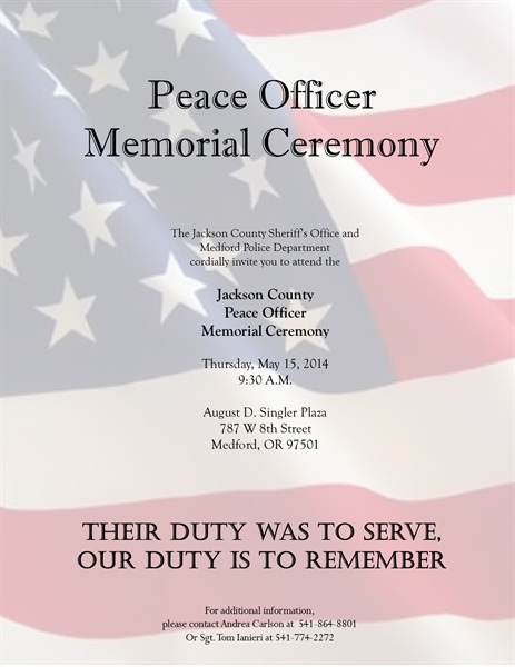 Jackson County Peace Officer Memorial Ceremony