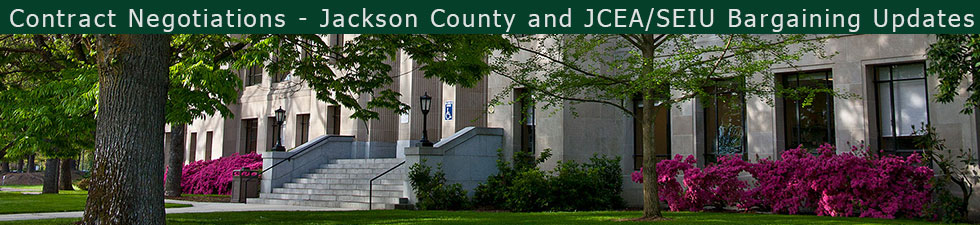 Contract Negotiations - Jackson County and JCEA/SEIU Bargaining Updates