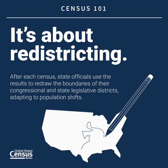 It's about redistricting.
