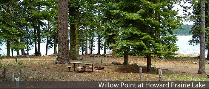 Willow Point Campground at Howard Prairie