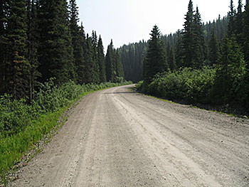 mountain gravel road