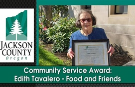 Community Service Award:  Edith Tavalero