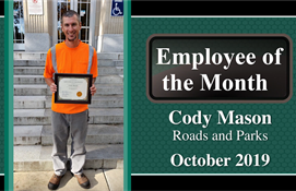 October Employee of the Month: Cody Mason