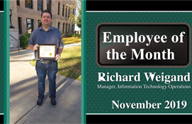 November Employee of the Month: Richard Weigand