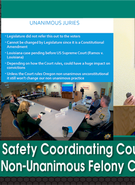 LPSCC Meeting: Oregon's Non-Unanimous Felony Conviction