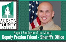August Employee of the Month: Deputy Preston...