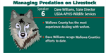 Managing Predation on Livestock - Dave Williams, State Director