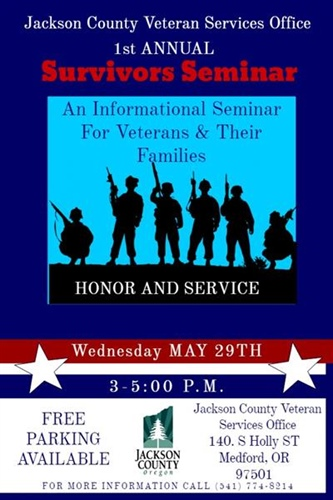 Jackson County Veteran Services Office proudly presents 1st annual Survivor's Seminar