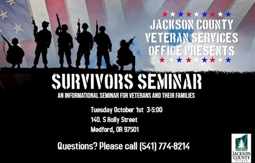 Jackson County Veteran Services Office Presents-Survivor's Seminar