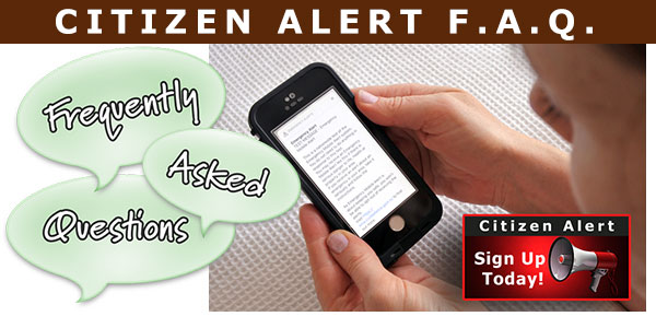 Citizen Alert Test FAQ's