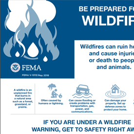Be Prepared for a Wildfire