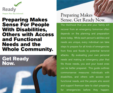 Preparing Makes Sense for People with Disabilities