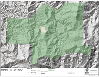 Hendrix Fire Evacuations Reduced