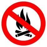 ALL CAMPFIRES PROHIBITED in ALL Jackson County Parks CAMPGROUNDS