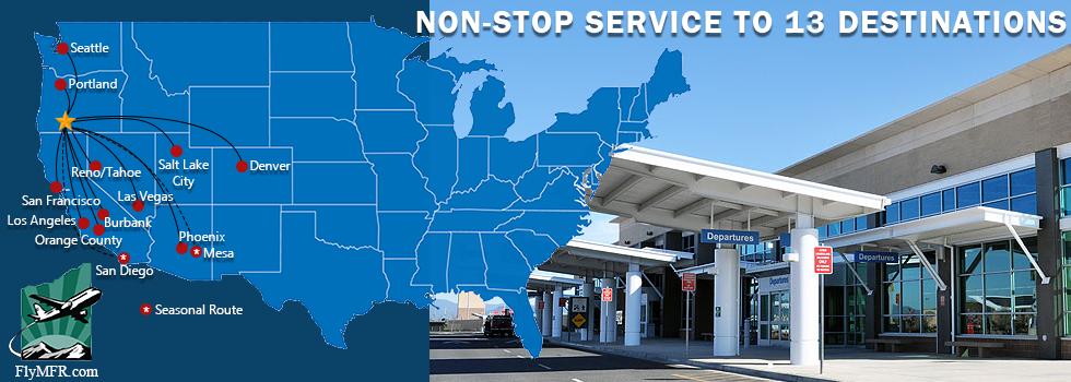 Non-Stop Service to 13 Destinations