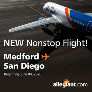 Medford to San Diego Non-Stop Service