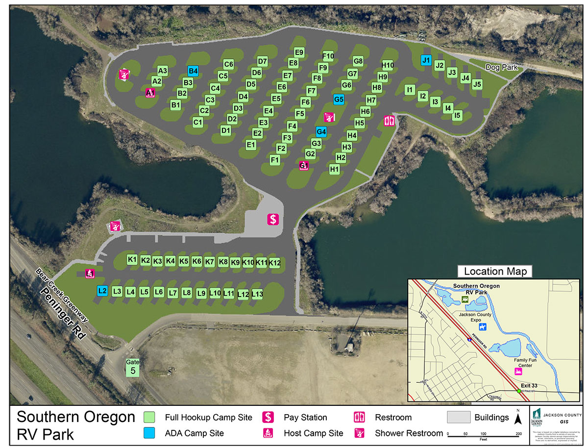 SO RV Park Sitemap